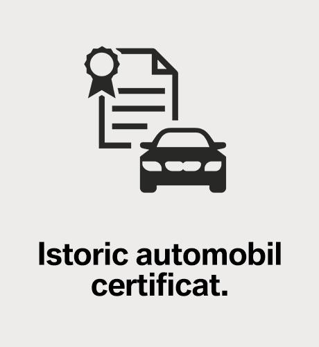 Istoric automobil certificat.