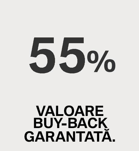 60% VALOARE BUY-BACK GARANTATĂ.
